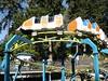 Powered Zamperla kiddie coaster with futuristic cars.
