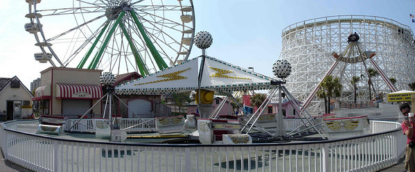 Ferris Whel, Scrambler and the lift/turnaround for the Swamp Fox coaster.