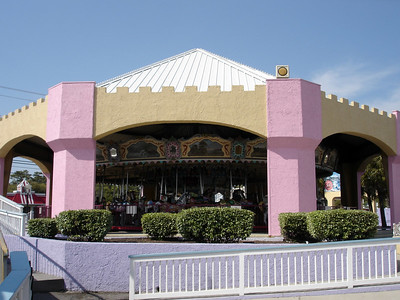 Family Kingdonm's carousel is the frame of the Asbury park carousel, but all the horses are fiberglass repros.