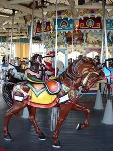 Fiberglass horse.