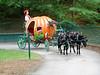 Horse drawn pumpkin coach.