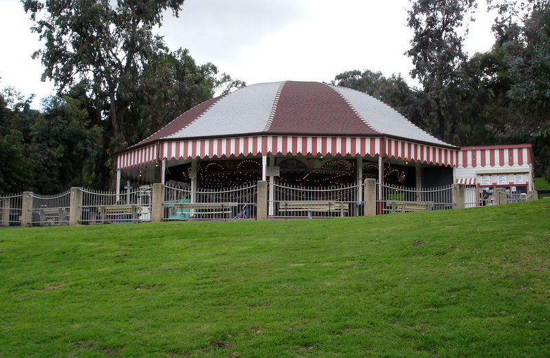 Looking up the hillside at the Merry Go Round