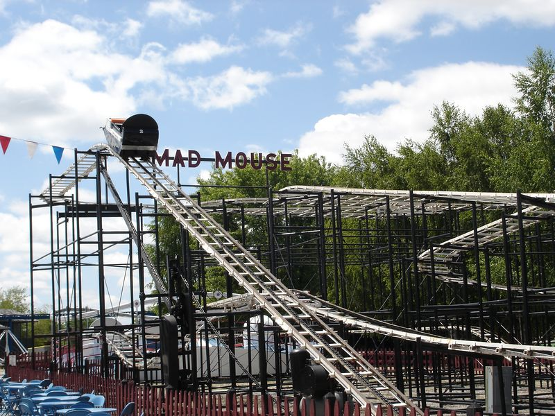 The Mad Mouse was an original installation at the Enchanted Forest and one of my first coasters - It still delivers the goods and is in great shape.