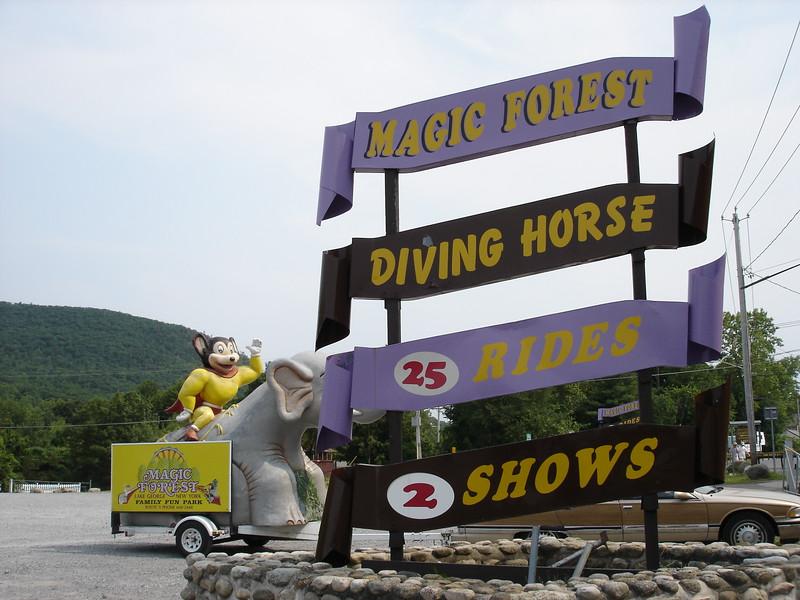 Magic Forest signage