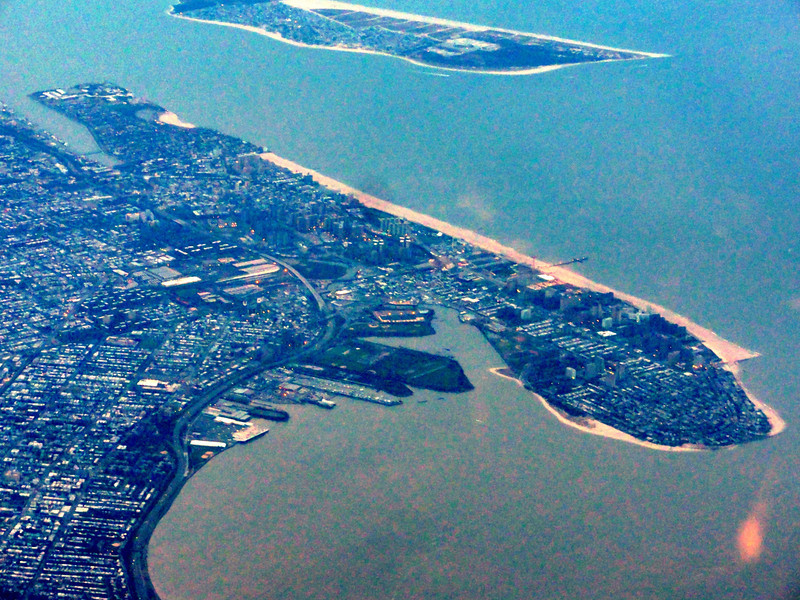 Leaving NY and flying over my beloved Coney Island