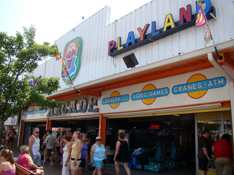 Palace Playland's arcade and main building.