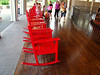 Rocking chairs in the carousel pavilion