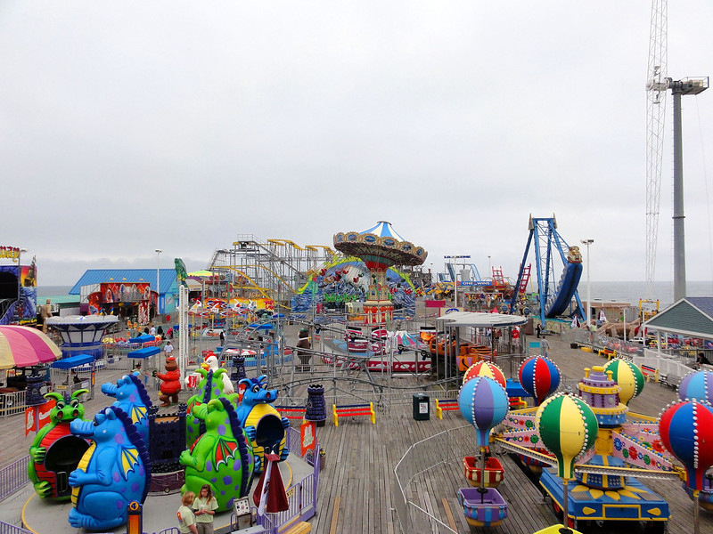 Overview of Casino Pier in Seaside Heights, NJ