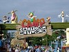 Camp Cartoon Network is one of two kids areas at Great America and it's very well themed.   Any signage with Cow & Chicken always makes me happy - 'Mama had a chicken, Mama had a cow, Dad was proud he didn't care how'