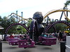 East River Crawler is original to the park and is a wonderful Schwarkopf spinner.  Batman is in the background and you can see Deja Vu's towers as well.
