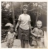 My sister Clare, my mom, and me.   Starting on the yellow brick road.