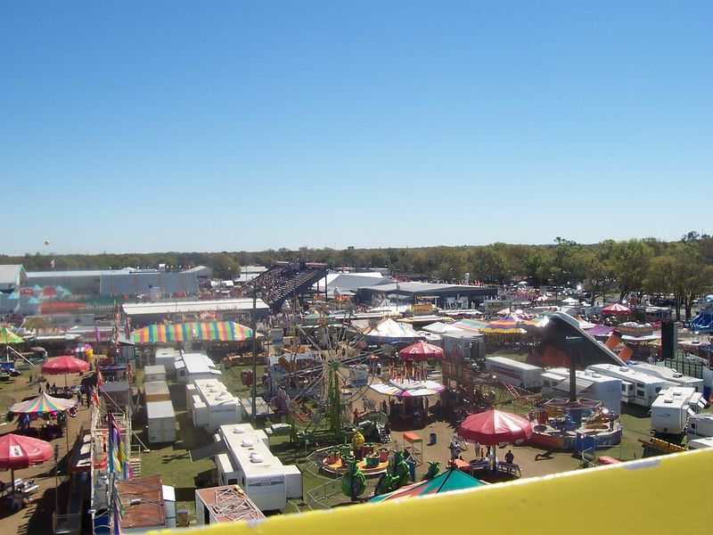 Another ariel view of the carnival midway