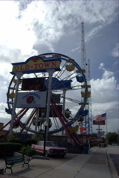 Nice ferris wheel out by the road to mark the entrance
