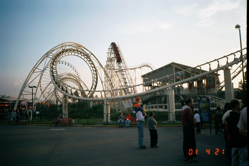 The corkscrew, this had been imported from the United States after being moved from a park there.