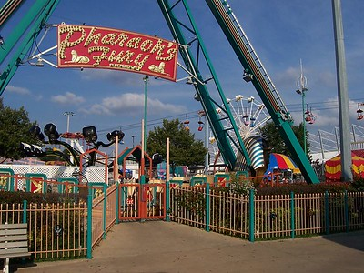This was the only ride in the back of the park that looked permanent, and only because it had planters around it.