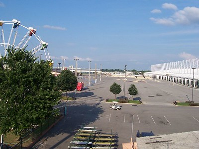 which is also part of the currently empty fairgrounds