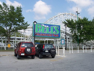 Bell's Amusement Park in Tulsa was our next stop.  Again, we were there before it opened.