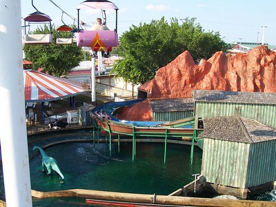 Including of the log flume