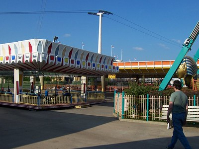 In the back half of the park, Bell's takes on a carny look to it, with several flats just being tossed in.