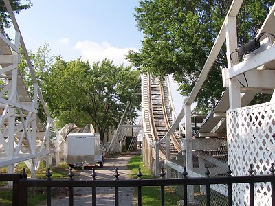 It's entrance is actually through Zingo, their wood coaster and the main attraction in the park.
