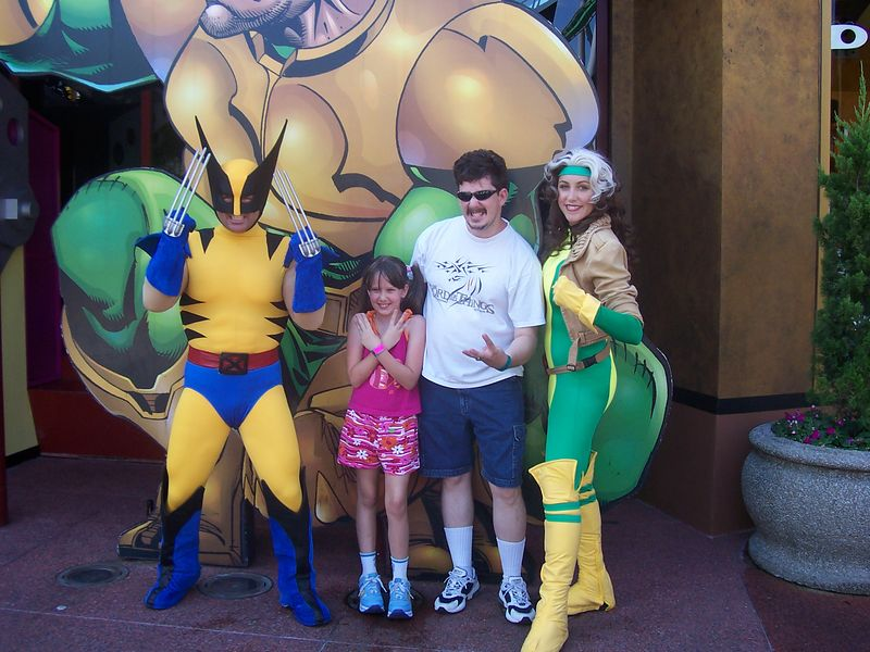 Dave (GardianX), Jolea, Wolverine, and Rogue.  Do you see the Invisible Woman around anywhere?