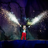 Fantasmic Mickey Mouse character fireworks
