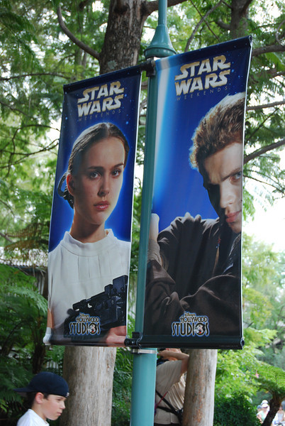 One of the banners around the park