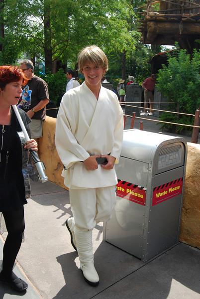Luke Skywalker with his biggest fan