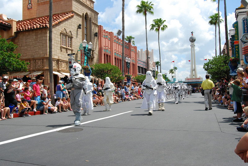 Snow troopers<br /> The mighty 501st division, Vader's Fist. This is actually a group of of over 4000 fans who have gotten together, make their own outfits, do appearances, and do such a great job they are now immortalized in the books and games.
