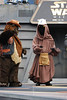"""The """"space village people"""" at Hyperspace Hoopla singing Y O D A - cowboy ewok, construction worker jawa"""