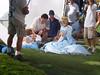 Cinderella filming a commercial