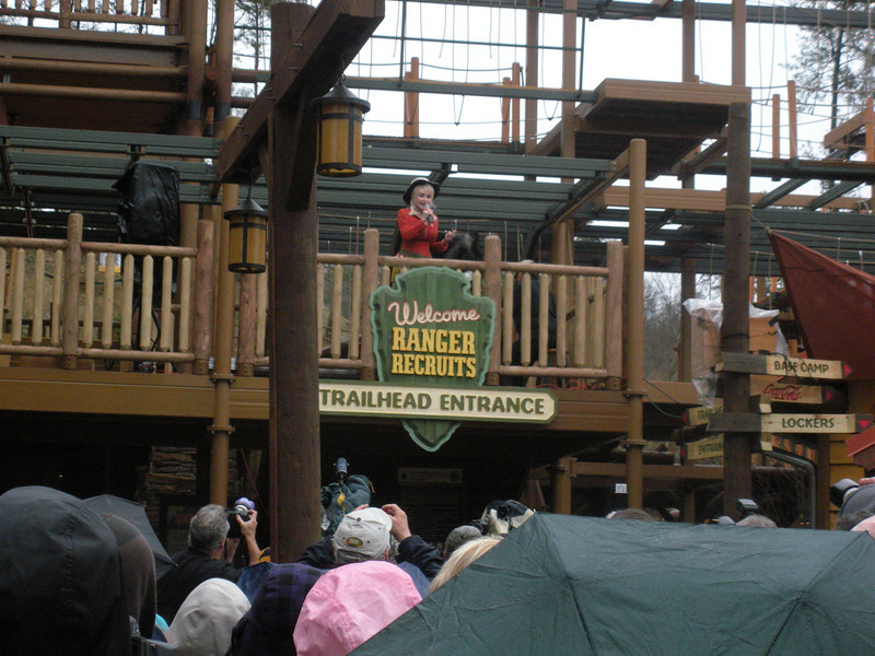 Dolly welcomes folks to the attraction's opening.