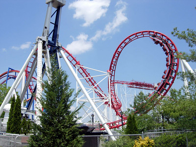 The Great American Scream Machine at Six Flags Great Adventure.