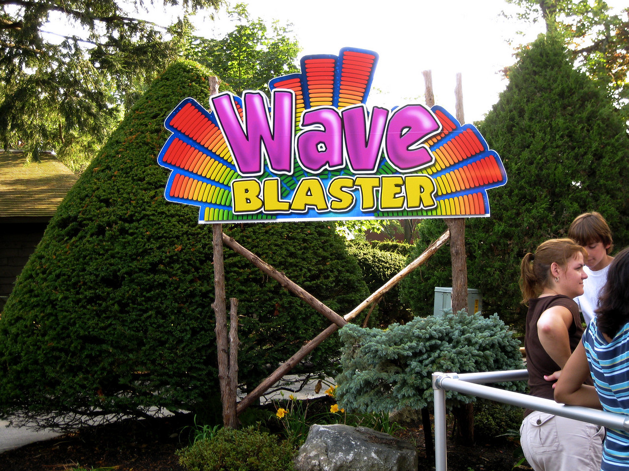 The Wave Blaster sign had new, rustic-themed sign posts.