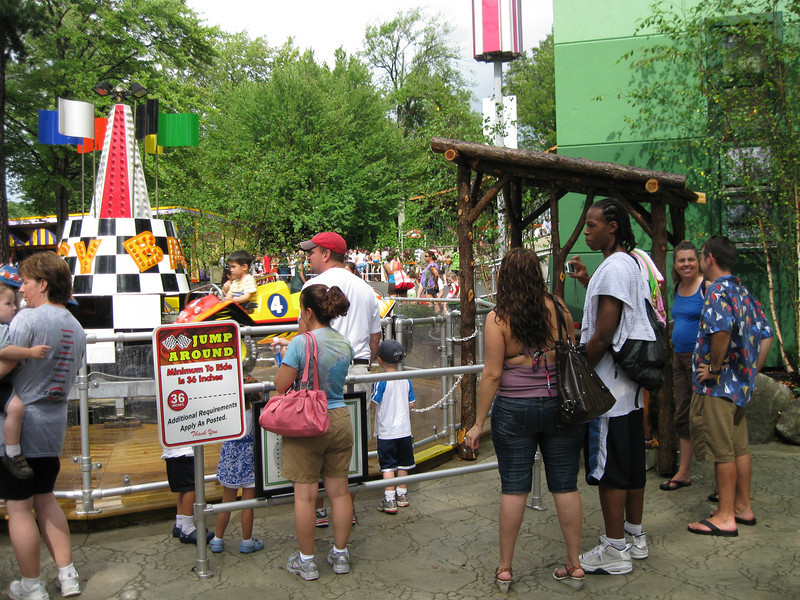 Jump Around has a new wooden ride operator booth.