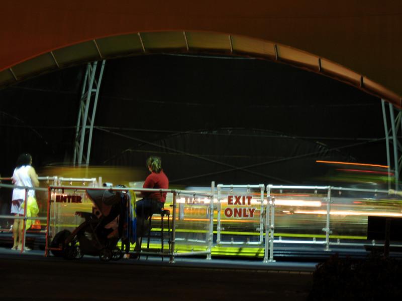 Autobahn at night.