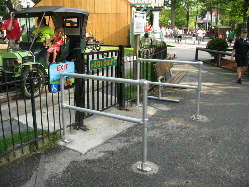 Antique Cars had new queue railing installed to keep the exit clear.