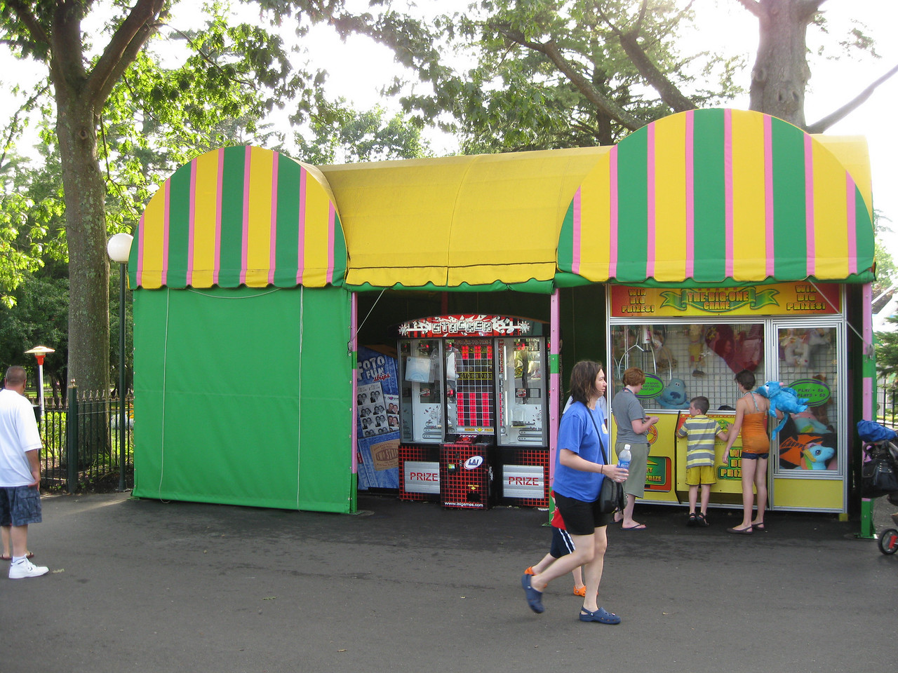 Part of the old park photographer tent was boarded up.