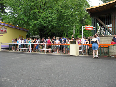 The queue for Yankee Cannonball was shorter than usual.
