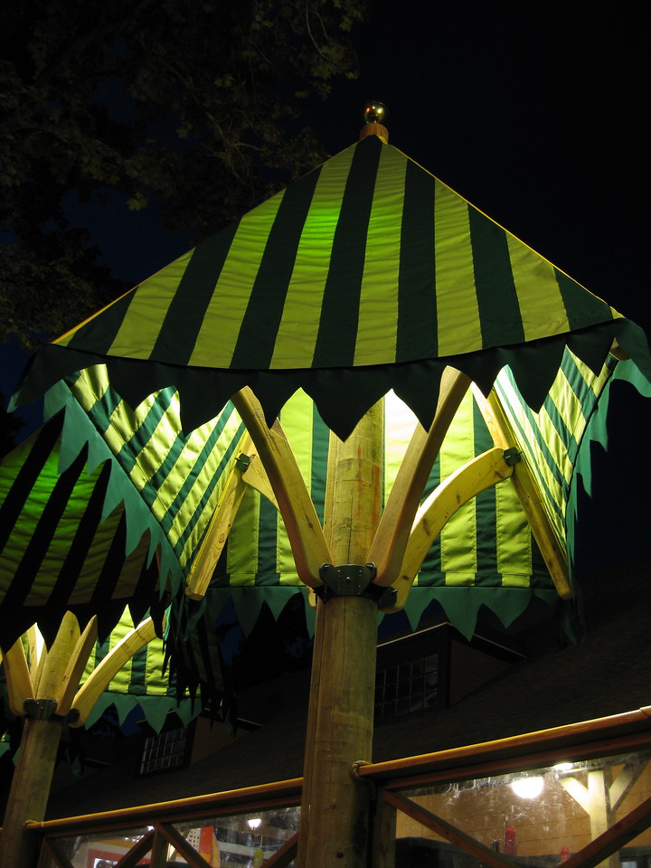 Detail of one of the tree tents.