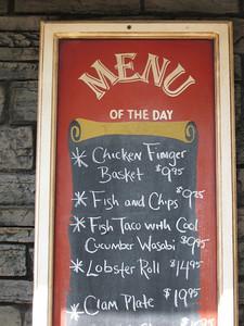 Minuteman Fried Clams menu.