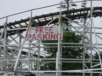 "There's a ""Free Parking"" sign on the Yankee Cannonball."