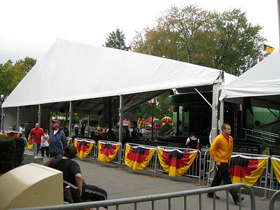 An additional tent was set up between the Midway Stage and Cafe D'Or.