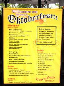 The Oktoberfest menu.