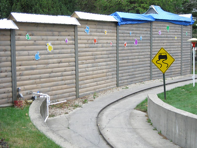 There was paintball splatter theming on Paintball Hollow.