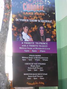 The October show schedule.