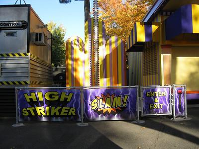 "Hi-Striker had new graphics on its plexiglass wall, with a new ""High Striker"" spelling."
