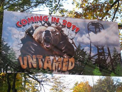Untamed coaster banner.