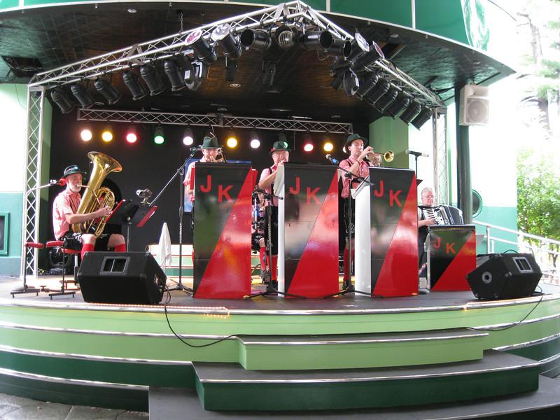 An Oktoberfest band. The Jolly Kopperschmidts German Band.
