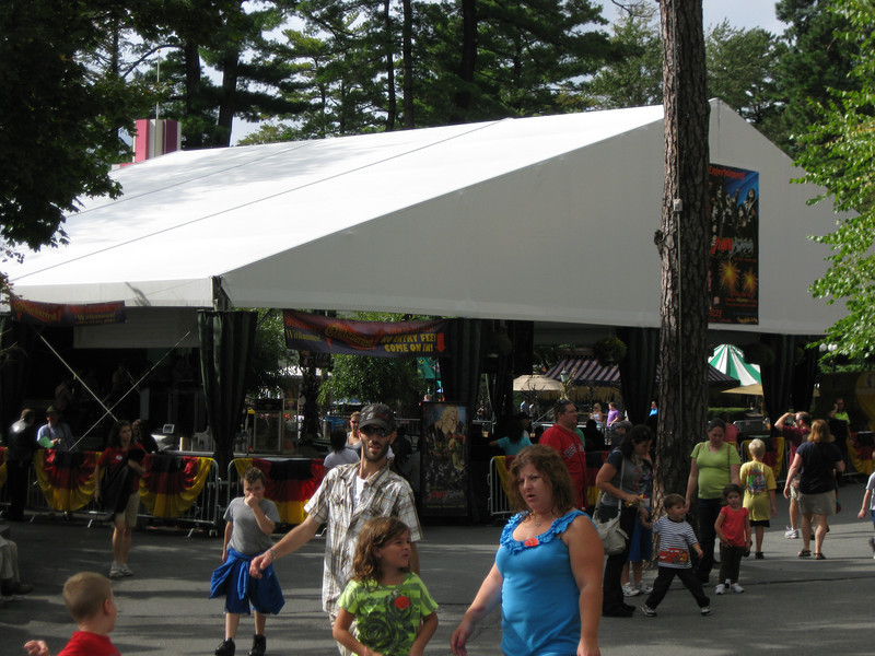The Midway Stage tent.